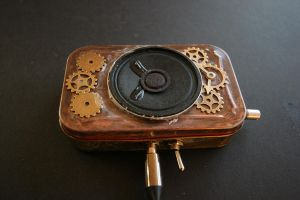 Steam Punk Amp and Speaker by rennocfatality