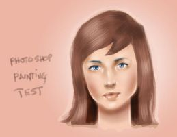 painted girl test by izzathafiz