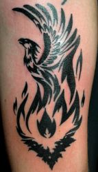 Tribal Phoenix Tattoo by mrinx