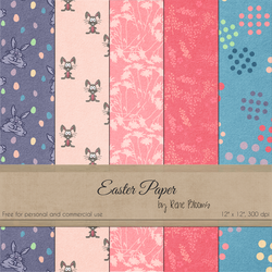 FREE Easter Paper by Rene Blooms by SunnyFunLane