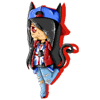 .::PC::. Pixel art- LoveableKittyMamiko 1/2 by Senpai-Hero