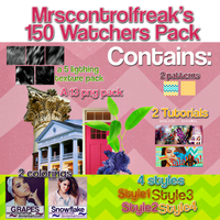 150 Watchers Pack. by mrsControlFreak