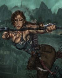 Lara's bow at the ready by Ultamisia