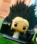 Mother of Dragons in Iron Throne by Alucard4