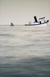 Allegory of my Stepfather Battling the Shark of Se by Crigger