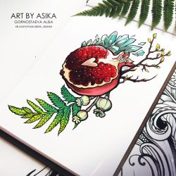 pomegranate by AsikaArt