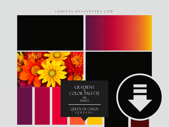 PS Gradient + Color Palette 001 | Sunset by iQueenS