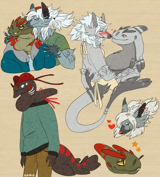Some cute boys and a Gecko by NukaKid