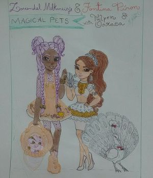 Lavendel Melkmeisje and Fontina Piron Magical Pets by GuiZSTAR