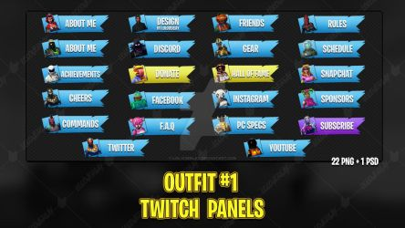 Outfit #1 - Twitch Panels by lol0verlay