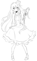 Mio lineart by ChibiShine