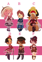 $15 Steampunk Adopts [OPEN 2/6] by mai-anjelle
