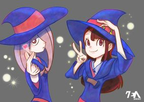 Akko and Sucy from Little Witch Academia! by RAEzin