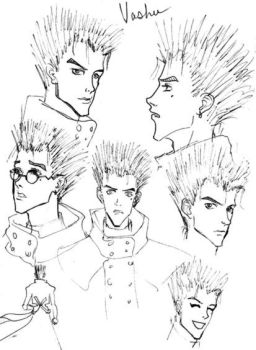 Vash Faces by purplerebecca