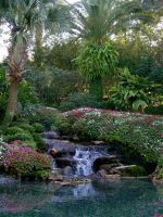 Garden with waterfall stock by FairieGoodMother