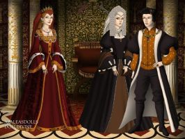 Elizabeth of York, Henry VII and Margaret Beaufort by TFfan234