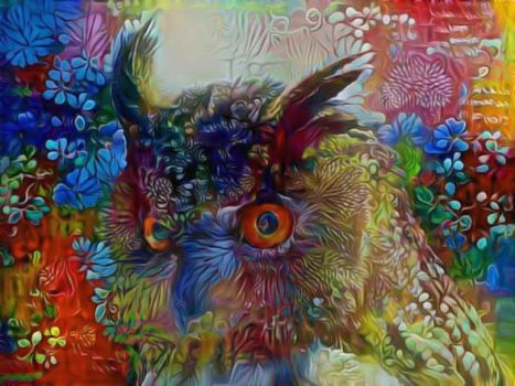 Flower Power Owl by eReSaW