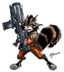 Guardians of the Galaxy: Rocket Raccoon (in color) by moonfletcher1983