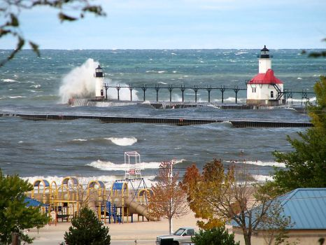 St Jo Michigan USA Lighthouses by Joilieder