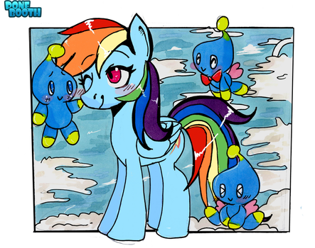 Rainbow Dash and the Chao by PoneBooth