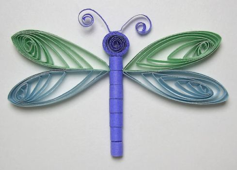 Quilled Dragonfly Stock by chamberstock