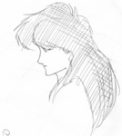 Susan Briggs Profile Sketch by Dolari