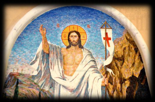 Icon 'Resurrection of Christ' in glass mosaic by Artmoment-Rus