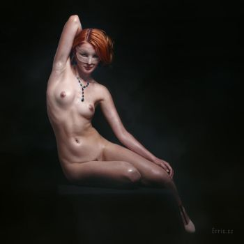 Redhead with necklace by Erric