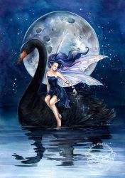 Black Swan ll by JannaFairyArt