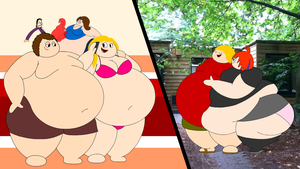 FAT: Two blonde fatties, two villas, two dates by Maxtaro
