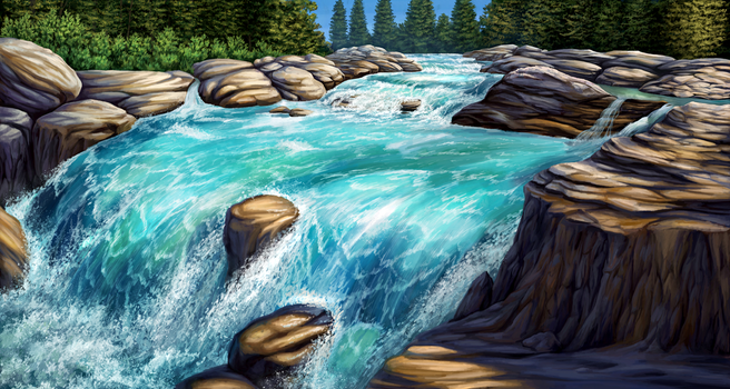 Salmon River by Nachiii