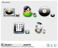 Disk Jockey web icons by Iconshock
