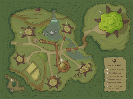 Kokiri Forest map by pend00