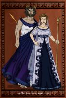 GodsOfAncientGreeceCouples: Zeus and Hera by wolfanita