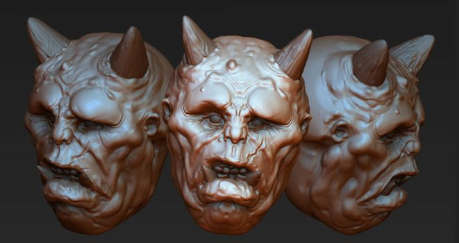 ZBrush Ogre Head by bossquibble