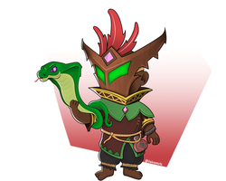 Lil' Mal'Damba from Paladins by SpiderFam