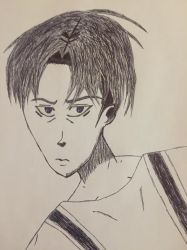 Inktober Day 4 - Levi Ackerman by Symbiote-God