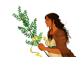 Erendis with the bough of return by jubah