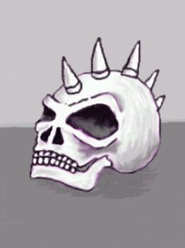 spikey skull by chaitanyak