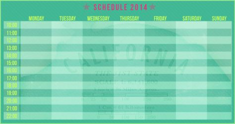 Schedule 2014: California the 31st State by eugegfx