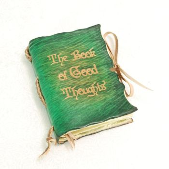 Green pocket size, Book of Good Thoughts. by gildbookbinders