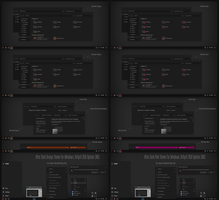 After Dark Orange and Pink Theme Win10 April 2018 by Cleodesktop