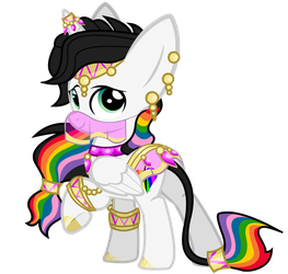 Rainbow Harem Outfit by Lightning-Bliss
