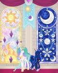 Bronycon 18 Royals in Stained Glass by Beadedwolf22