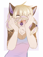 A sketchy doodle of a shy pup by EiKaArts