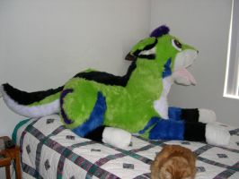 Giant toony canine plush by Bladespark