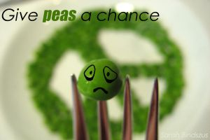 Give Peas a Chance by Blueberryblack