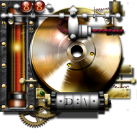 Steampunk Hard drive Indicator D Icon by yereverluvinuncleber