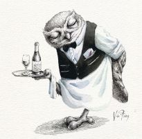 Waiter Owl by viafang