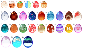 Mystery BLOB Eggs [Closed] by Wafkie